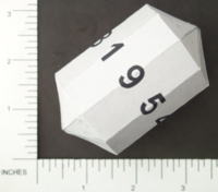 Dice : PAPER D09 MY DESIGN ELONGATED NONAGONAL DYPYRAMID