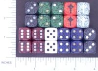 Dice : D6 OPAQUE ROUNDED SPECKLED CHESSEX 08 CELTIC CROSS