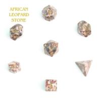 Dice : STONE MULTI CRYSTAL CASTE AFRICAN LEOPARD STONE