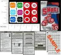 Dice : NON NUMBERED OPAQUE ROUNDED SOLID FUNDEX SHAKE 01