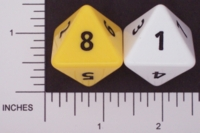 Dice : D8 OPAQUE ROUNDED SOLID FAMILY LEARNING 01