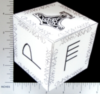 Dice : PAPER D06 Q-WORKSHOP DICE DESIGN CONTEST NOVEMBER 2007 BARTOSZ TOPOLCZYK 02 NORSE