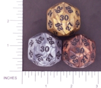 Dice : D30 OPAQUE SHARP IRIDESCENT 01 KOPLOW OLYMPIC