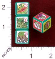 Dice : MINT30 PRINT AND PLAY PRODUCTIONS CHUNKY FIGHTERS CARNIVIVOROUS PLANT 01