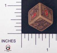 Dice : NUMBERED OPAQUE ROUNDED SOLID Q WORKSHOP CHIP 04