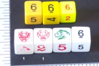 Dice : NUMBERED OPAQUE SHARP SOLID 3