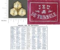 Dice : MINT1 JEU DE TRIANGLE 01