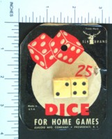 Dice : DUPS03 ELK IVORY 2 FIVE EIGHTHS 25 CENT