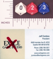 Dice : D8 OPAQUE ROUNDED SOLID EXILE GAMES HOLLOW EARTH 01