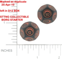 Dice : D12 OPAQUE ROUNDED SOLID UNKNOWN SET 1 BKTRADE 01