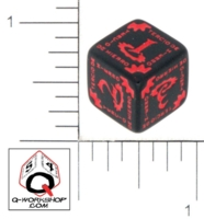 Dice : NUMBERED OPAQUE ROUNDED SOLID Q WORKSHOP TERCIO DE HIERRO 01