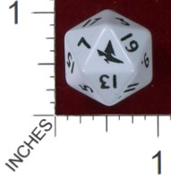 Dice : D20 OPAQUE ROUNDED SOLID PRODOS GAMES MUTANT CHRONICLES CAPITOL