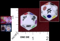 Dice : D20 OPAQUE ROUNDED SOLID WIZKIDS SAN DIEGO COMIC CON EXCLUSIVE PAC EXCLUSIVE