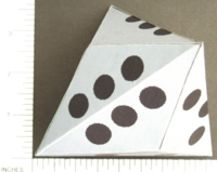Dice : PAPER D6 MY DESIGN TRIAKIS TETRAHEDRON PIPPED