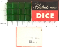 Dice : MINT1 CRISLOID GREEN CLEAR 12 FIVE EIGHTHS BLANK 01