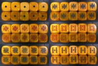 Dice : POKER UNKNOWN HUGE COMPLETE SET