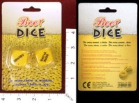 Dice : MINT34 OUT OF THE BLUE BEER DICE 01