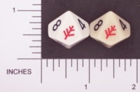 Dice : D10 OPAQUE ROUNDED SOLID DAGON 01 ELDER SIGN