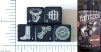 Dice : NON NUMBERED 46 HARLEY YAHTZEE