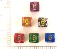 Dice : NUMBERED OPAQUE ROUNDED SWIRL CHESSEX VORTEX
