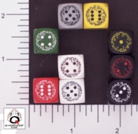 Dice : D6 OPAQUE ROUNDED SOLID Q WORKSHOP ELVEN II SMALL 01