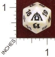 Dice : D20 OPAQUE ROUNDED SPECKLED MTG LIFE COUNTERS DRAGONS MAZE 08