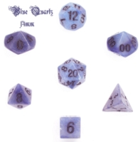 Dice : STONE MULTI CRYSTAL CASTE QUARTZ BLUE 01