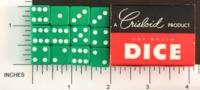 Dice : MINT1 CRISLOID GREEN 12 HALF 01
