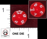 Dice : D10 OPAQUE ROUNDED SOLID Q WORKSHOP LEGEND OF THE FIVE RINGS CHAMPIONSHIP 2013 WARSAW POLAND