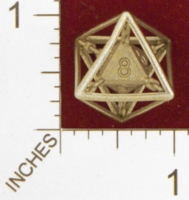 Dice : MINT24 SHAPEWAYS JVO CHAINED DIE 8 SIDED