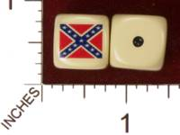 Dice : MINT29 YAK YAKS CONFEDERATE STATES OF AMERCIA FLAG 01