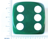 Dice : LG PLASTIC 2 D6 OPAQUE ROUNDED IRIDESCENT KOPLOW GREEN