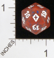 Dice : D20 OPAQUE ROUNDED SPECKLED MTG LIFE COUNTERS WORLDWAKE 01