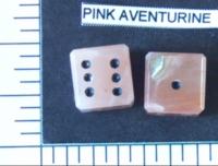Dice : STONE D6 PINK AVENTURINE