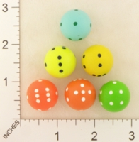 Dice : D6 OPAQUE ROUNDED SOLID SPHERICAL ALEA KYBOS TRADE 01
