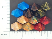 Dice : D10 OPAQUE SHARP IRIDESCENT CHESSEX MENAGERIE 01
