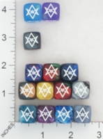 Dice : MINT16 CHESSEX SECRET SOCIETY CROWLEY 01