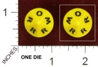Dice : D10 OPAQUE ROUNDED SOLID UNKNOWN W O R 01