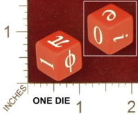 Dice : MINT27 ERIC HARSHBARGER MATH CONSTANTS DIE 01