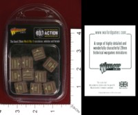 Dice : MINT33 WARLORD GAMES BOLT ACTION ORDER DICE BROWN 01