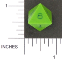 Dice : D8 OPAQUE SHARP SOLID DIAMOND DICE 01