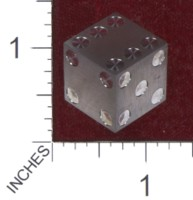 Dice : MINT36 CYBERNETIC RESEARCH LABORATORIES AMBER RIX MACHINED PRECISION DICE TITANIUM