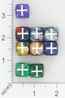 Dice : MINT16 CHESSEX SECRET SOCIETY KNIGHTS TEMPLAR 01