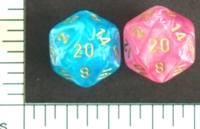 Dice : D20 OPAQUE ROUNDED IRIDESCENT CHESSEX EASTER