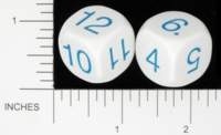 Dice : NUMBERED OPAQUE ROUNDED SOLID KOPLOW 01