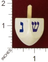 Dice : MINT34 JEWISH EDUCATIONAL TOYS WOODEN DREIDEL 01