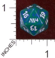 Dice : D20 OPAQUE ROUNDED SOLID WIZARDS OF THE COAST MTG M14 05