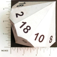 Dice : PAPER D18 MY DESIGN