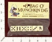 Dice : MINT25 STEVE JACKSON GAMES +6 BAG O MUNCHKIN D6 01