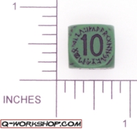 Dice : NON NUMBERED OPAQUE ROUNDED SOLID Q WORKSHOP RUNIC ARTILLERY 02